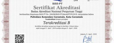 Akreditasi Institusi Poltekkes Kemenkes Gorontalo