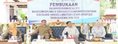 Pembukaan Kuliah Kerja Komunitas Di desa Haya-haya Kec Limboto Barat Kab Gorontalo