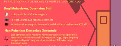 Pendaftaran Keanggotaan Perpustakaan Poltekkes Kemenkes Gorontalo
