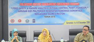 "Pelatihan Keamanan Pangan ""Food Safety dan Hazard Analysis Critical Control Point (HACCP)"""
