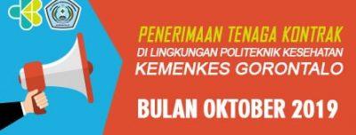 PENERIMAAN TENAGA KONTRAK DI LINGKUNGAN POLITEKNIK KESEHATAN KEMENKES GORONTALO BULAN OKTOBER TAHUN 2019