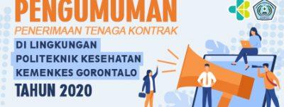 PENERIMAAN TENAGA KONTRAK DI LINGKUNGAN POLITEKNIK KESEHATAN KEMENKES GORONTALO PERIODE KE-2 TAHUN 2020