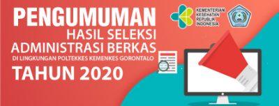 Daftar Hasil Seleksi Administrasi Seleksi Penerimaan Tenaga Kontrak di Polkesgo Periode Ke-2 Tahun 2020