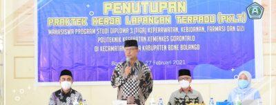 Penutupan Praktek Kerja Lapangan Terpadu (PKLT) Poltekkes Kemenkes Gorontalo Di Kecamatan Kabila Kabupaten Bone Bolango