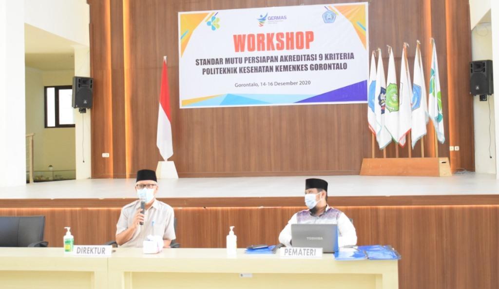 Workshop Standar Mutu Persiapan Akreditasi 9 Kriteria Poltekkes Kemenkes Gorontalo