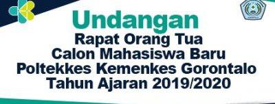 Undangan Rapat Orang Tua Calon Mahasiswa Baru T.A 2019-2020