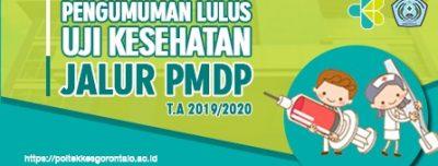 Hasil Kelulusan Kesehatan Jalur PMDP T.A 2019-2020