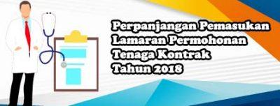 Perpanjangan Pemasukan Lamaran Permohonan Tenaga Kontrak di Lingkungan Poltekkes Gorontalo Tahun 2018