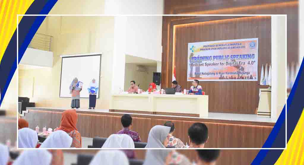 TRAINING  PUBLIC SPEAKING PROGRAM STUDI DIPLOMA III JURUSAN GIZI